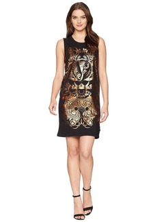 Foil Print Sleeveless Dress