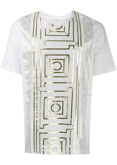 Versace foiled marble printT-shirt