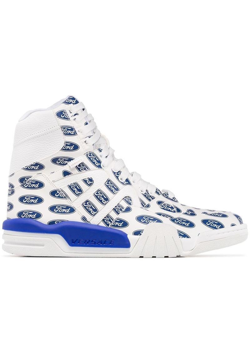 Versace Ford logo hi-top sneakers