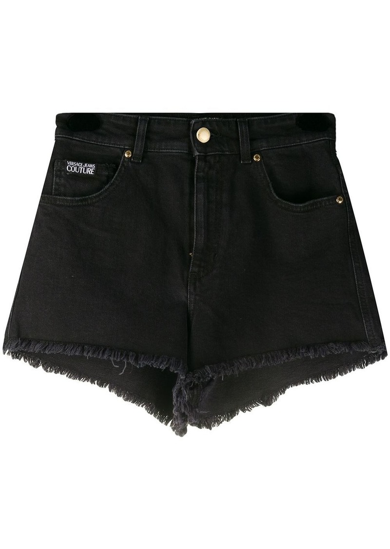 Versace frayed hipster shorts