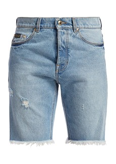 Versace Frayed Jean Shorts