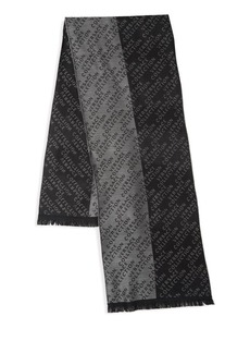 Versace Frayed Printed Scarf