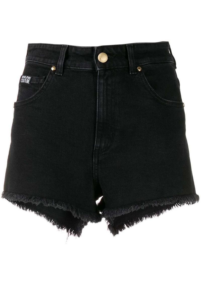 Versace frayed short shorts