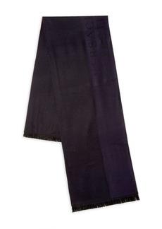 Versace Frayed-Trim Wool-Blend Scarf