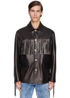Versace Fringed Leather Jacket