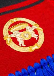 Versace Fringed logo scarf