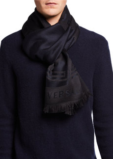 Versace Fringed Wool Scarf