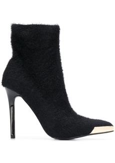 Versace fur effect heeled boots