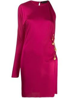 Versace gathered detail mini dress