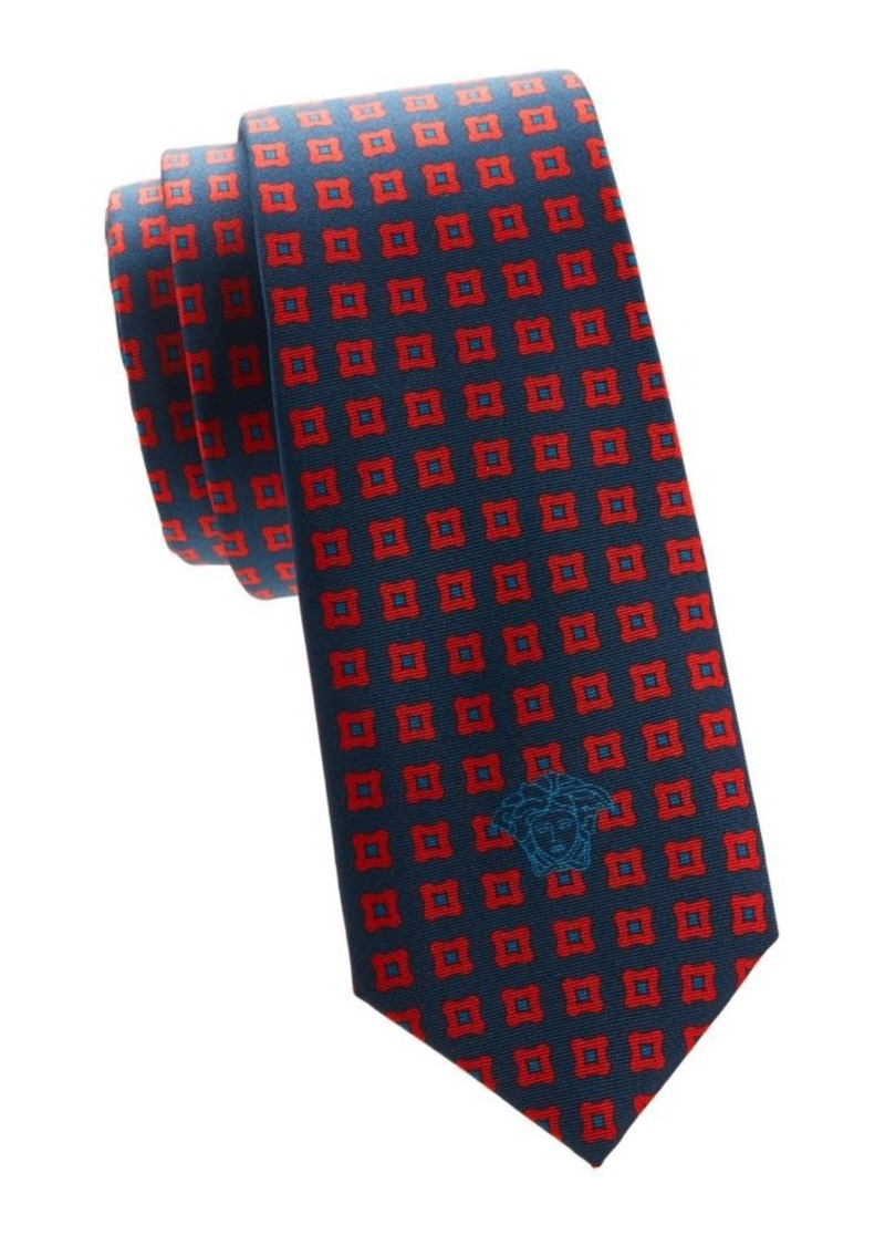 Versace Geometric-Print Silk Tie
