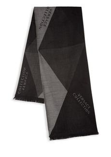 Versace Geometric Wool-Blend Scarf
