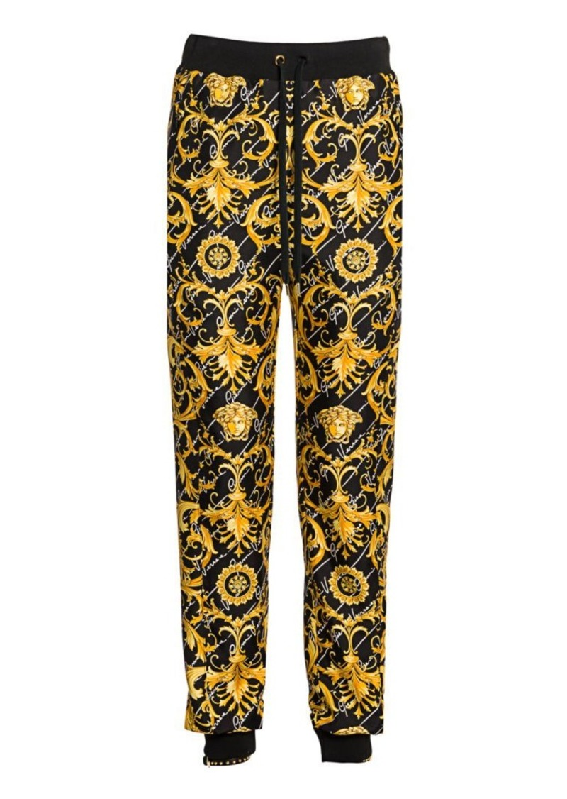 Versace Gianni Signature Silk Twill Joggers