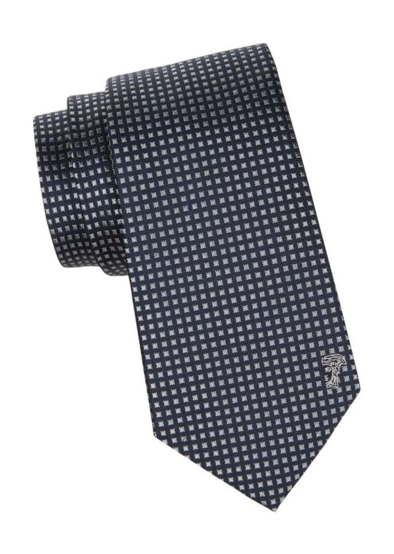 Versace Gingham Silk Tie