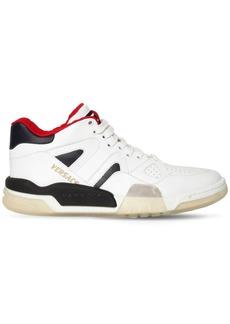 Versace Ginobli Leather Sneakers
