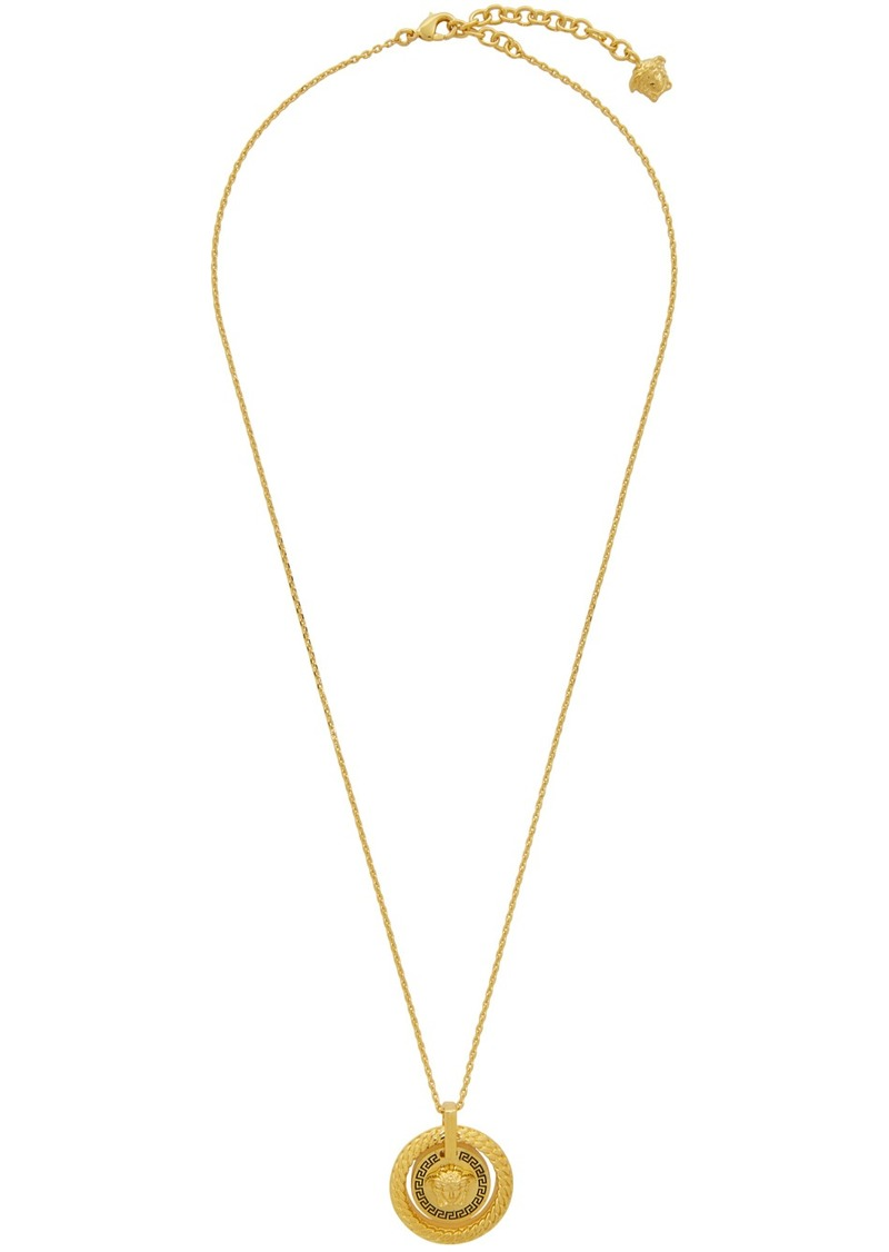 Versace Gold & Black Chain Medusa Necklace