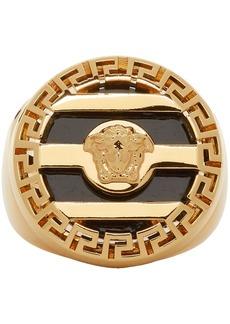 Versace Gold & Black Medusa Ring