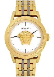 Versace Gold & Gunmetal Palazzo Empire Watch