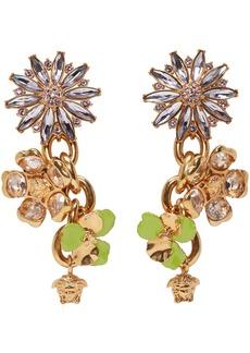 Versace Gold & Purple Crystal Chandeliers Earrings