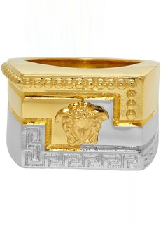 Versace Gold & Silver Meander Ring