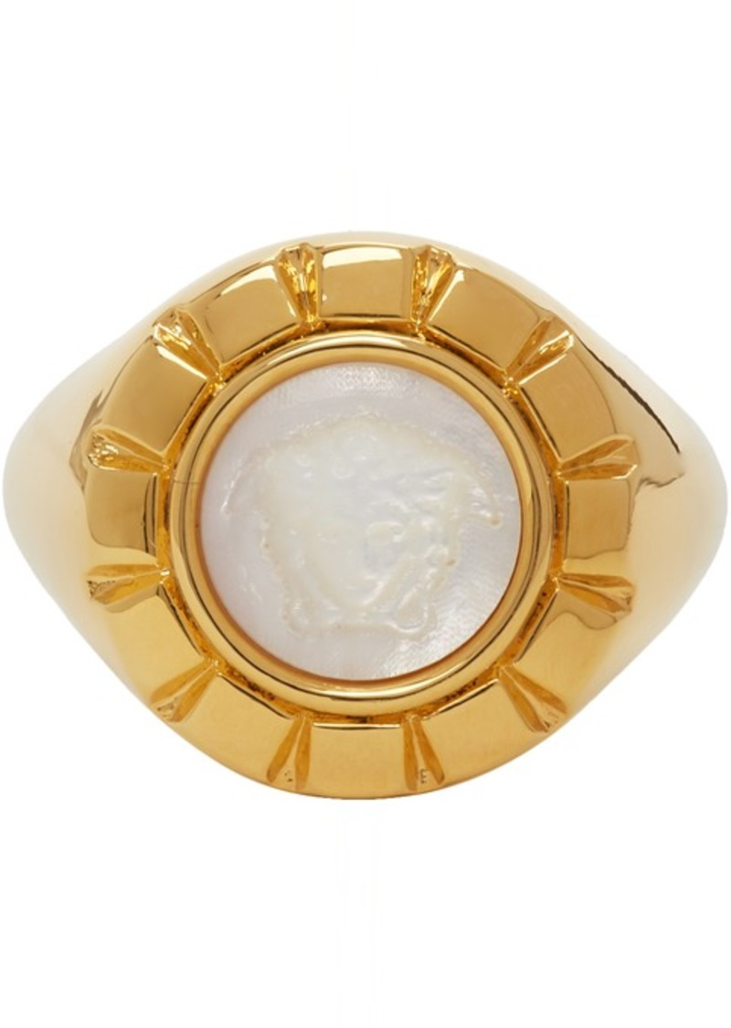 Versace Gold & White Palazzo Ring
