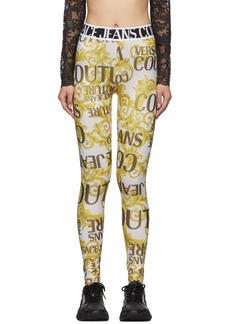 Versace Gold Barocco Leggings