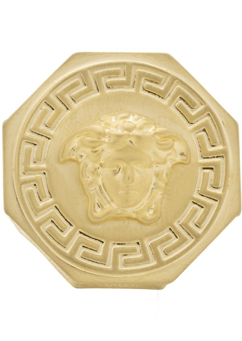 Versace Gold Brushed Medusa Ring