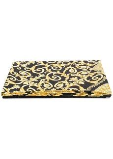Versace Gold Hibiscus print beach towel