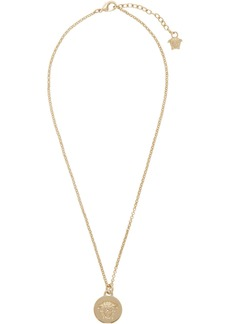 Versace Gold Medusa Coin Pendant Necklace