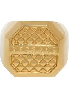 Versace Gold Octagonal Ring