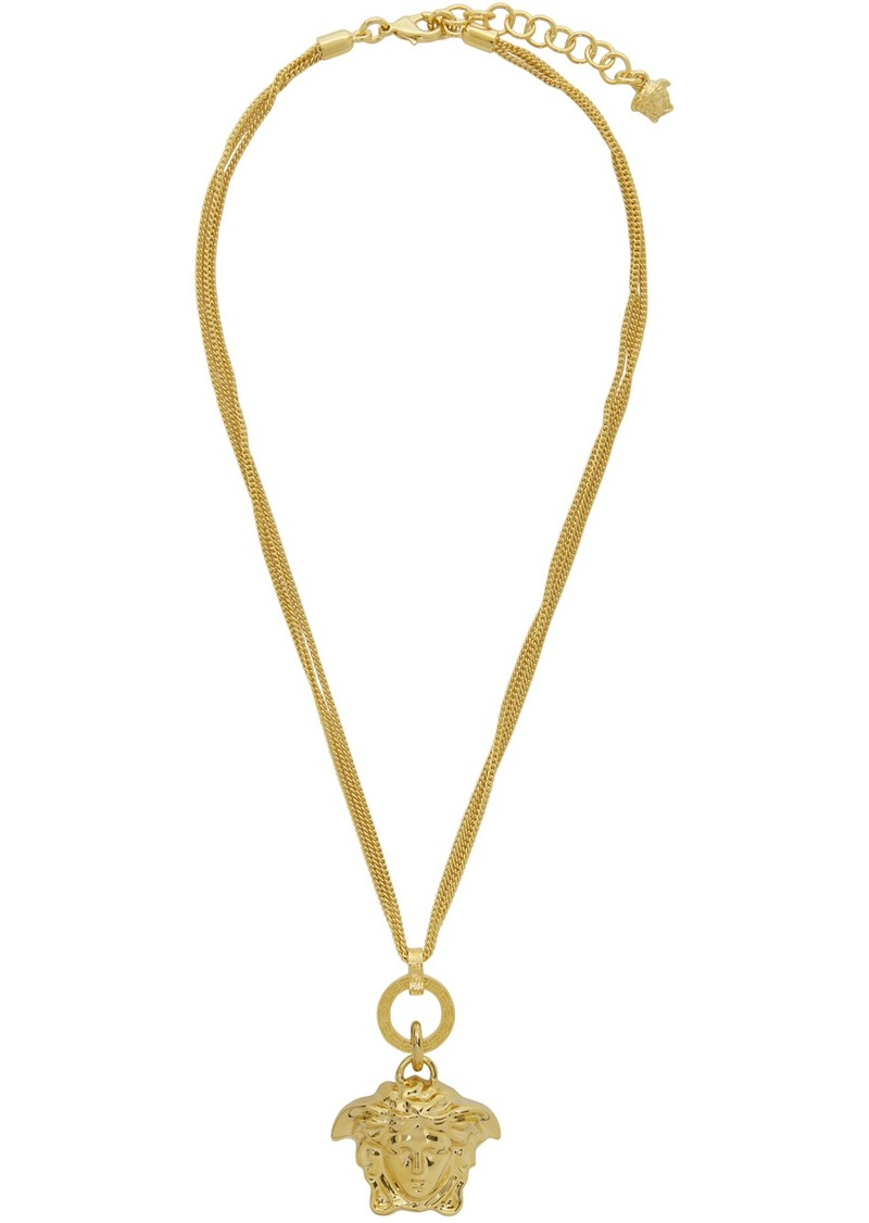 Versace Gold Palazzo Medusa Necklace