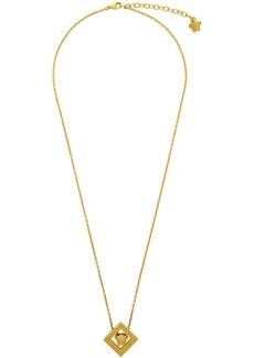 Versace Gold Rhombus Pendant Necklace