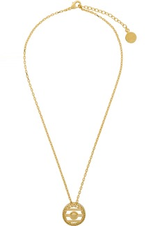 Versace Gold Round Cage Medusa Necklace