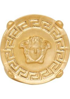 Versace Gold Round Medusa Greek Ring