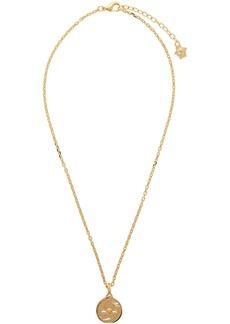 Versace Gold Round Medusa Pendant Necklace