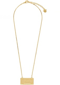 Versace Gold 'Spring/Summer 20' License Plate Necklace