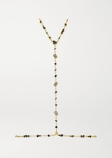 Versace Gold-tone Crystal Body Chain
