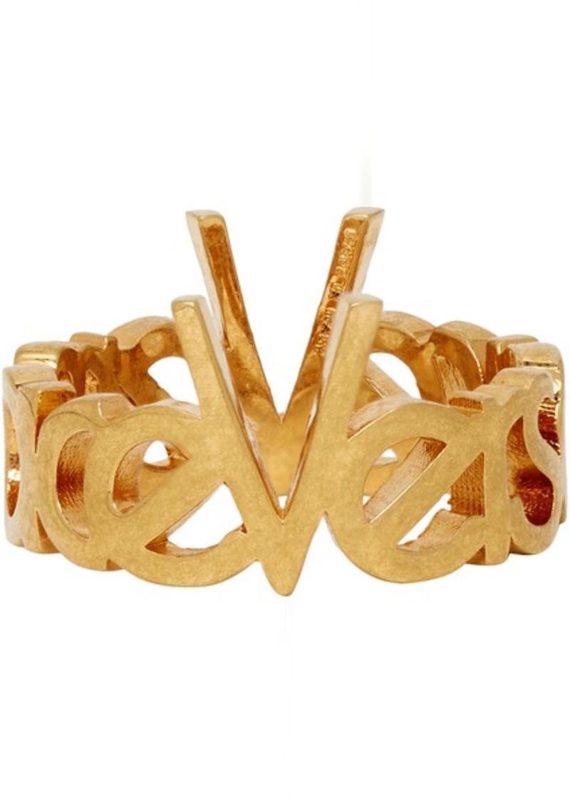 Versace Gold Vintage Logo Ring