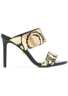 Versace Golden Hibiscus print sandals