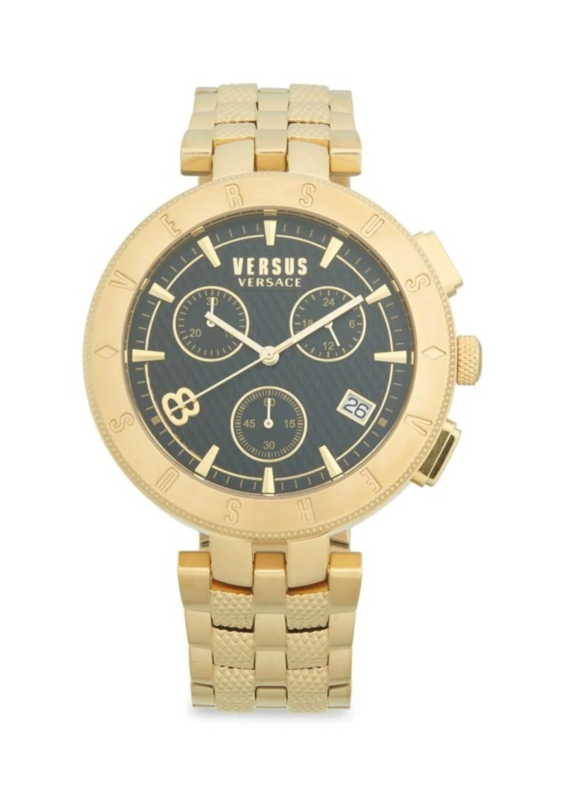 Versace Goldtone Stainless Steel Bracelet Watch