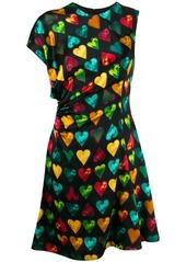 Versace graphic asymmetric dress