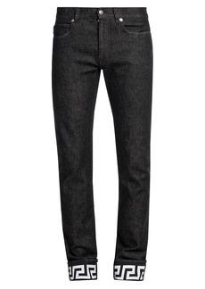 Versace Graphic Hem Jeans