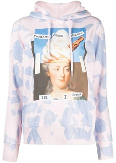 Versace graphic-print cotton hoodie