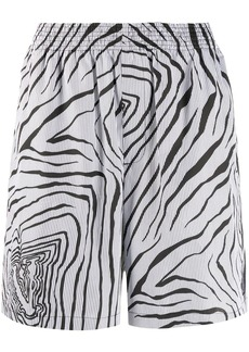 Versace graphic print shorts