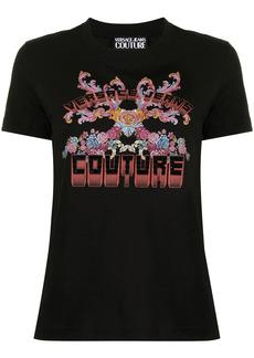 Versace graphic-print studded T-shirt