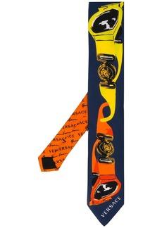 Versace graphic print tie