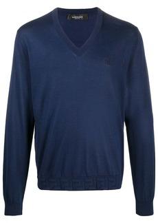 Versace Greca accent silk jumper