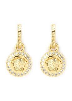 Versace Greca and Medusa drop earrings
