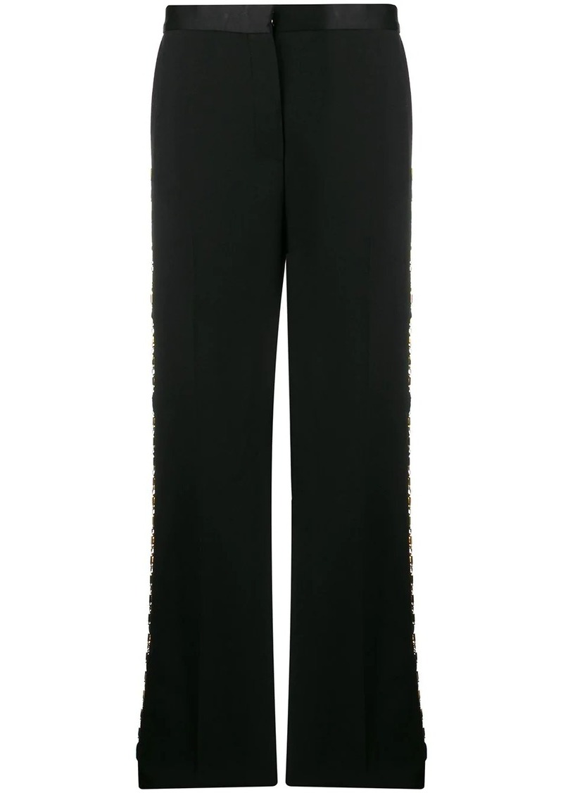 Versace Greca-chain tailored trousers