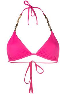 Versace Greca-detail halterneck bikini