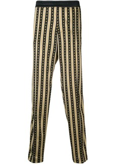 Versace Greca stripe trousers
